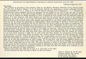 1827 Declaration of Independence